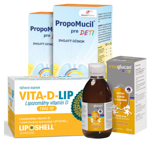 balíček pre deti - výživový doplnok a vitamíny
